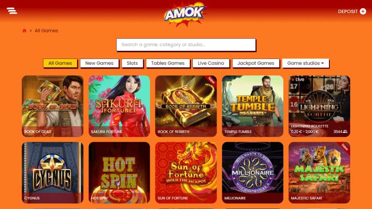 Amok Casino Screenshot 2