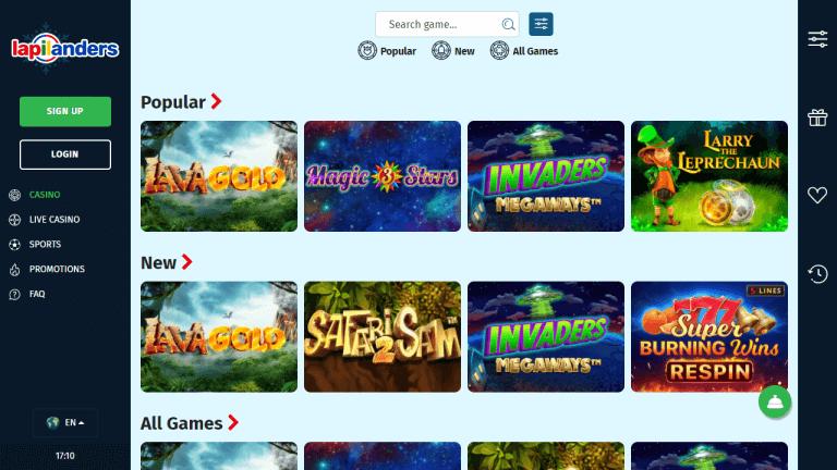 Lapilanders Casino Screenshot 2