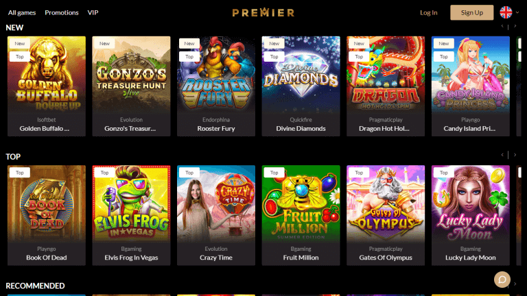 Premier Casino Screenshot 2