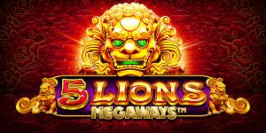 5 Lions Megaways logo achtergrond