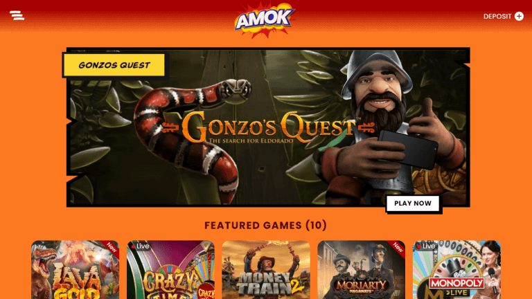 Amok Casino Screenshot 1