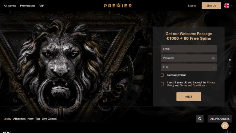 Premier Casino Screenshot 1