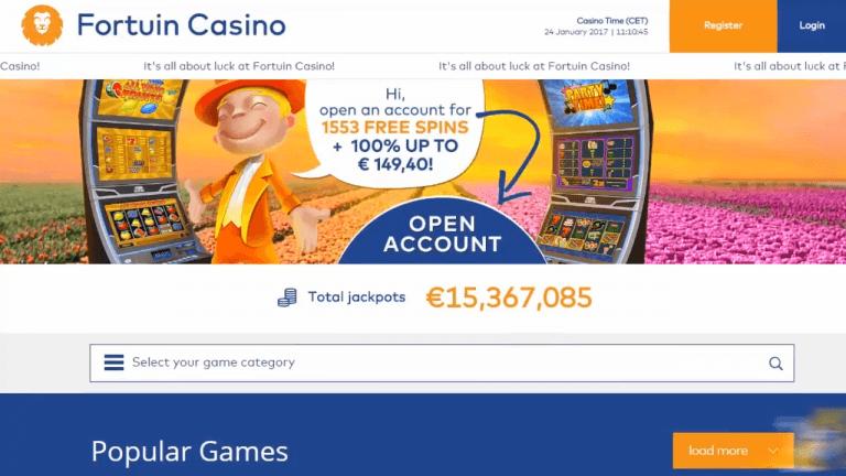 Fortuin Casino Screenshot 1