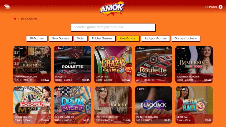 Amok Casino Screenshot 3