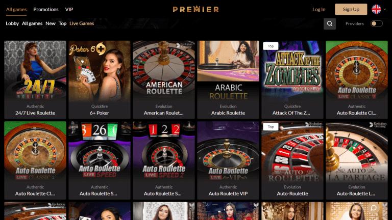 Premier Casino Screenshot 3