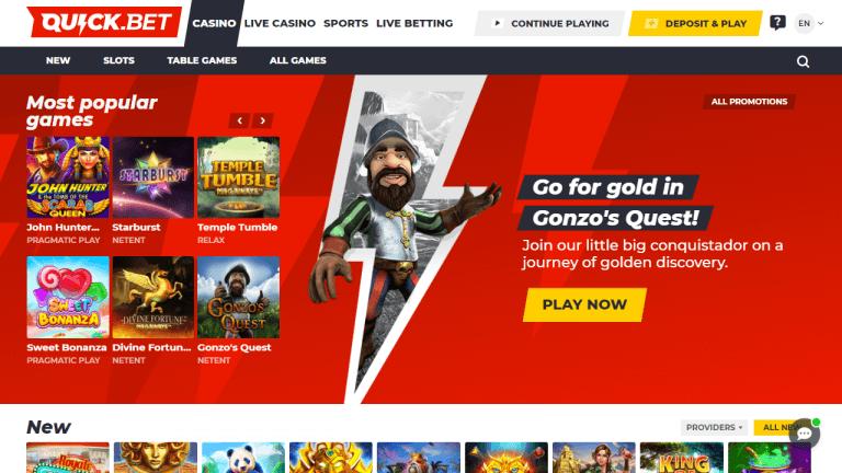 Quick Bet Casino Screenshot 2