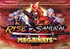 Rise of Samurai Megaways logo achtergrond