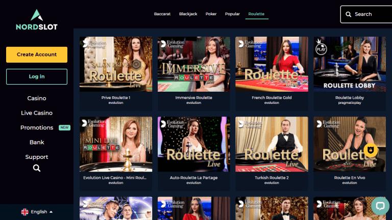 Nordslot Casino Screenshot 3