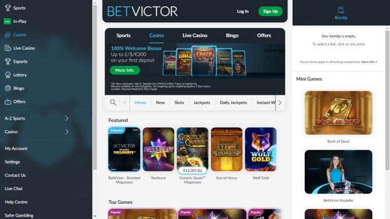 BetVictor Screenshot 1