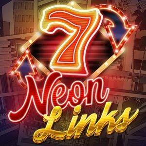 Neon Links logo achtergrond