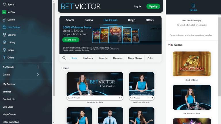 BetVictor Screenshot 2