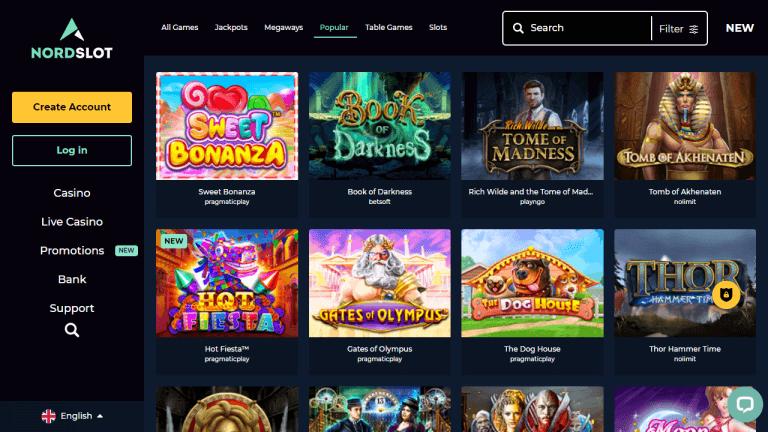 Nordslot Casino Screenshot 2
