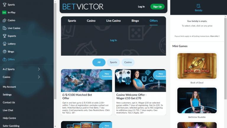 BetVictor Screenshot 3