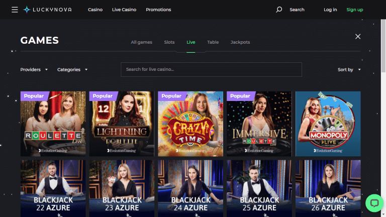 Lucky Nova Casino Screenshot 3