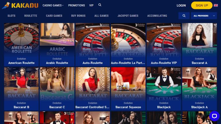 Kakadu Casino Screenshot 3
