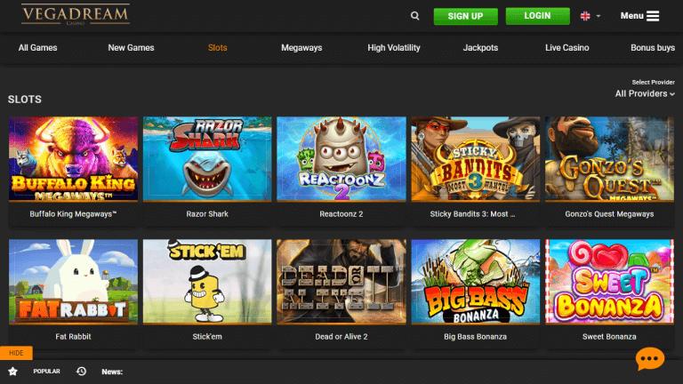 Vegadream Casino Screenshot 2