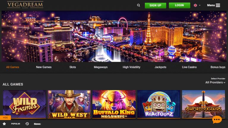Vegadream Casino Screenshot 1