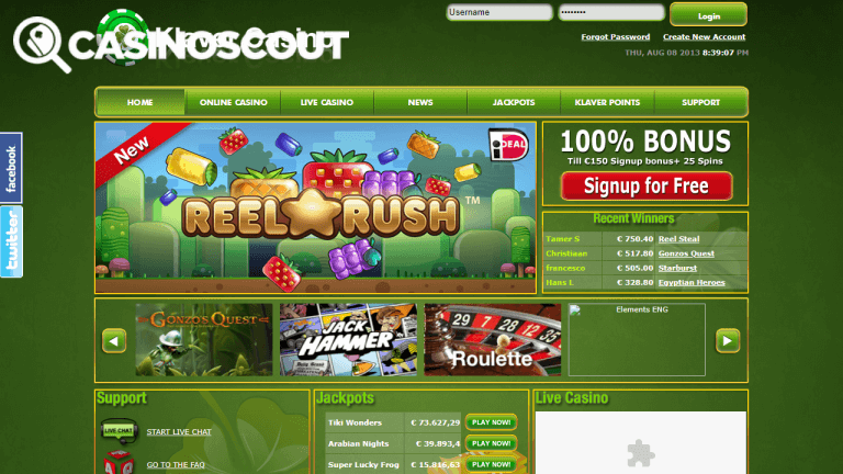 Klaver Casino Screenshot 1