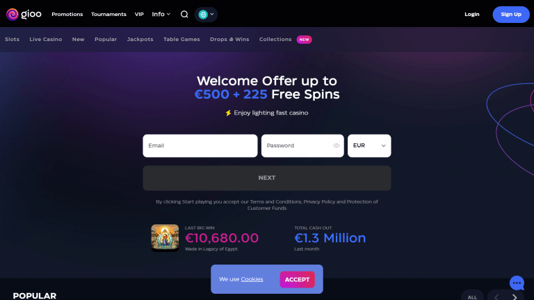 Gioo Casino Screenshot 1