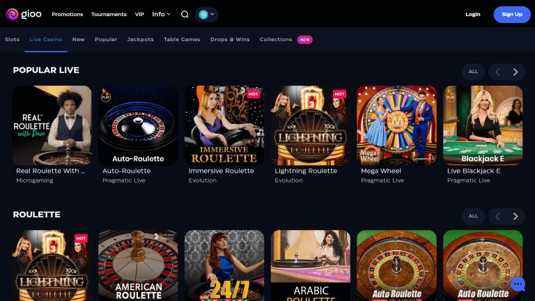 Gioo Casino Screenshot 3