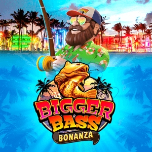 Bigger Bass Bonanza logo achtergrond