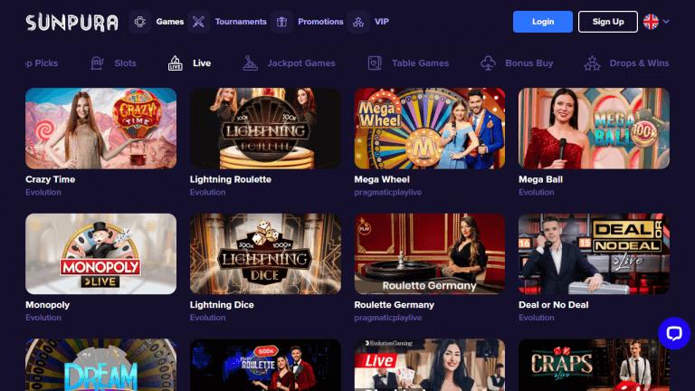 Sunpura Casino Screenshot 3