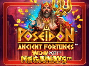 Ancient Fortunes: Poseidon WowPot logo achtergrond