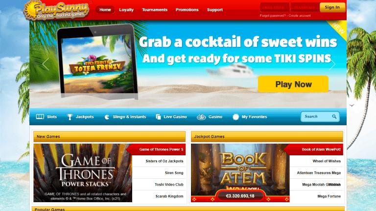 PlaySunny Casino Screenshot 1