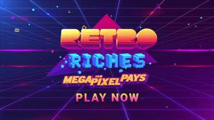 Retro Riches logo achtergrond