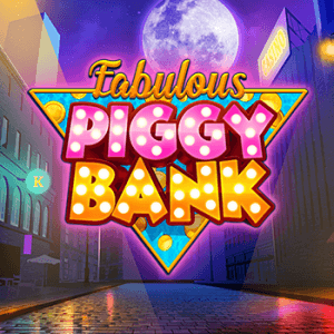 Fabulous Piggy Bank logo achtergrond