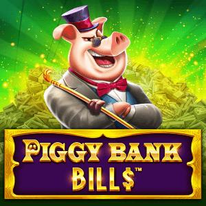 Piggy Bank Bills logo achtergrond