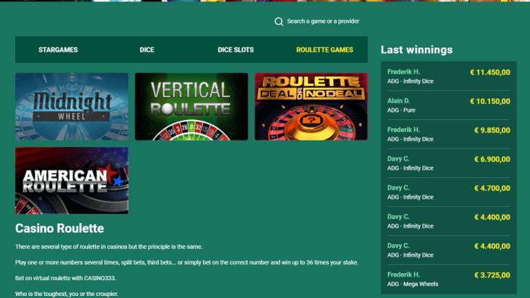 Casino333 Screenshot 3