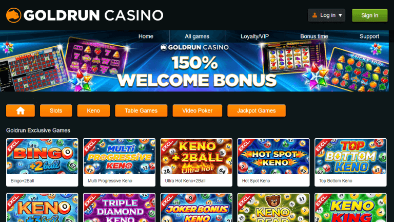 GoldRun Casino Screenshot 1