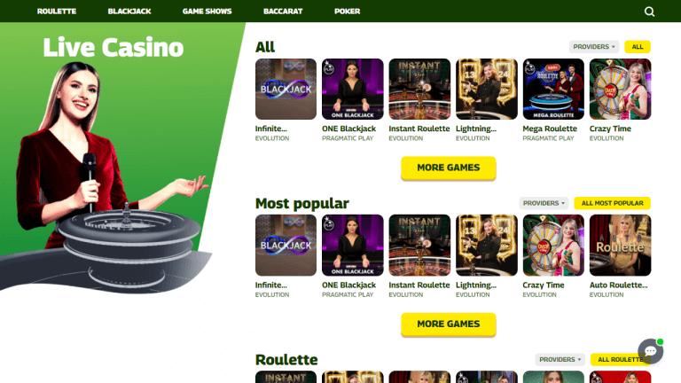 Insta.Win Casino Screenshot 3