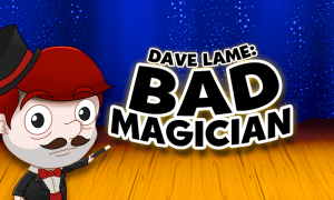 Dave Lame: Bad Magician logo achtergrond