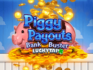 Piggy Payouts Bank Buster logo achtergrond