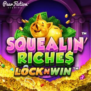 Squelin' Riches logo achtergrond