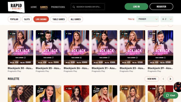 Rapid Casino Screenshot 3